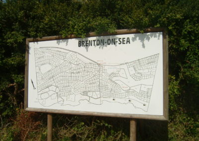 A Landmark in Town is the huge map of Brenton On Sea along the road into Brenton On Sea
